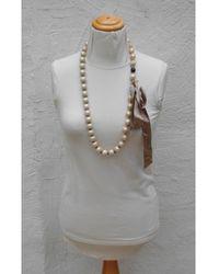 Lanvin Sautoir perle (imitation) beige - Neutre