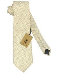 Valentino Garavani - Cravate soie blanc - Lyst