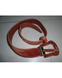 Jean Paul Gaultier - Ceinture fine cuir marron - Lyst