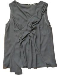 Nina Ricci - Blouse polyester noir - Lyst