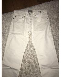 Sandro Jeans droit denim, jean blanc