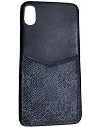 Louis Vuitton Etui iPhone cuir noir