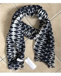 Sandro - Foulard coton noir - Lyst