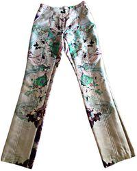Prabal Gurung - Pantalon droit soie multicolore - Lyst