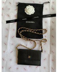 Chanel Portefeuille cuir noir
