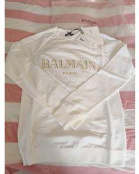 Balmain Sweat coton blanc