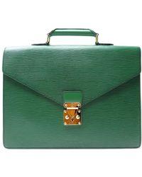 Louis Vuitton Sacoche cuir vert