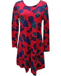 Marc Jacobs - Robe mi-longue rayon rouge - Lyst