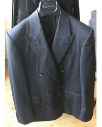 Lanvin - Veste de costume laine gris - Lyst