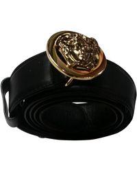 Versace Ceinture cuir noir