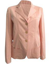 Jil Sander - Blazer, veste tailleur coton rose - Lyst