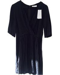 Sandro Robe courte coton noir