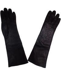 Lanvin Gants cuir noir