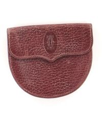 Cartier Porte-monnaie cuir rouge
