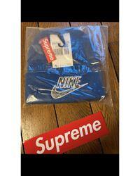 Supreme Bonnet coton bleu Taille unique