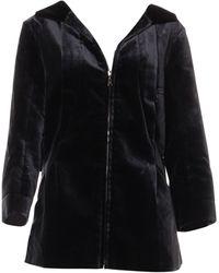 Louis Vuitton - Manteau coton noir - Lyst