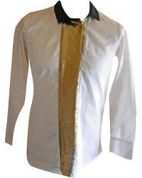 Sandro - Chemisier coton blanc - Lyst