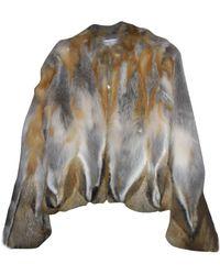 Gerard Darel Blouson, veste en fourrure fourrure beige - Neutre