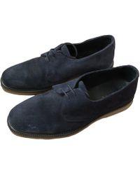 Sandro Chaussures à lacets daim bleu