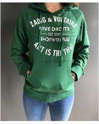 Zadig & Voltaire Sweat coton vert