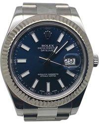 Rolex Montre au poignet acier DATEJUST bleu