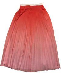 Maje Jupe longue elasthane rose