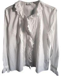 Claudie Pierlot - Chemisier coton blanc - Lyst