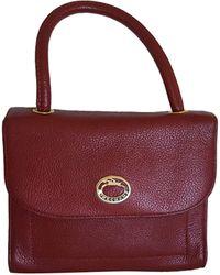 Longchamp - Sac à main en cuir cuir irisé rouge - Lyst