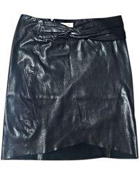 Helmut Lang Jupe courte cuir noir