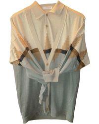 Lanvin - Gilet, cardigan lin multicolore - Lyst