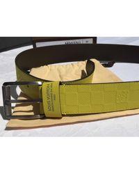 Louis Vuitton Ceinture cuir jaune - Multicolore