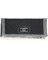 Chanel Echarpe cachemire gris