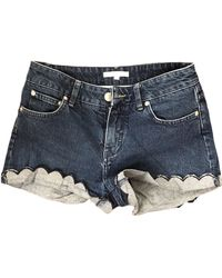 Maje Short denim, jean bleu