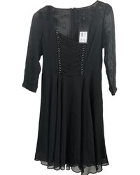 The Kooples - Robe courte polyester noir - Lyst