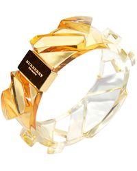 Burberry Bracelet résine jaune - Métallisé