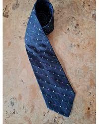 Versace - Cravate soie bleu - Lyst