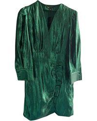 Maje Robe courte polyester vert