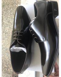 Versace Chaussures à lacets cuir marron