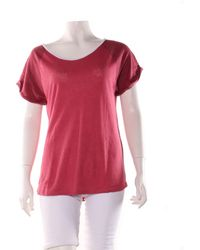 Sandro - Top, tee-shirt lin rouge - Lyst