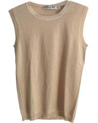 Dior Top, tee-shirt laine beige - Neutre