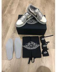 Dior Baskets cuir blanc