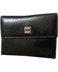 Sonia Rykiel Porte-monnaie cuir noir