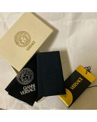 Versace Porte-clés learher inside - woven bleu