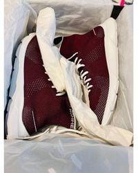 Dior Baskets synthétique rouge