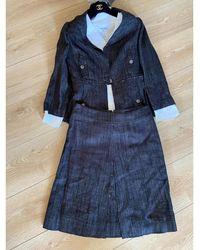 Chanel Tailleur jupe coton noir