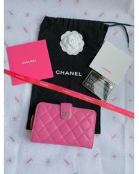 Chanel Portefeuille cuir rose