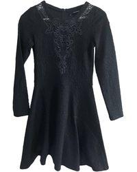 The Kooples - Robe mi-longue polyester bleu - Lyst