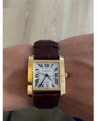 Cartier - Montre au poignet or jaune Tank Américaine doré - Lyst