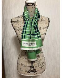 Balmain Foulard soie vert