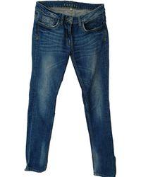 Sandro Jeans droit coton bleu